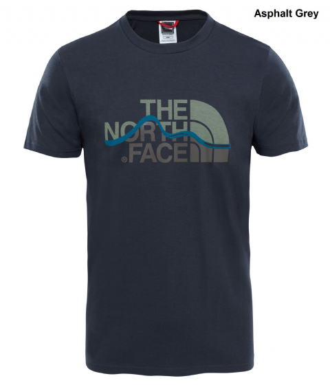 The North Face Mens Mountain Line Tee - Cotton T-Shirt - Crew Neck